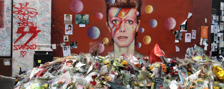 Image of David Bowie Street art.